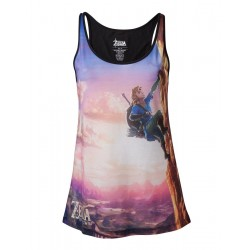 ZELDA BREATH OF THE WILD- All Over Link Climbing TopTank - GIRL (L) 156170  Top Tank Shirts