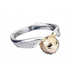 HARRY POTTER - Sterling SILVER Golden Snitch Ring- Medium 156021  Ringen