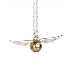 HARRY POTTER - Sterling SILVER Golden Snitch Charm Halsketting