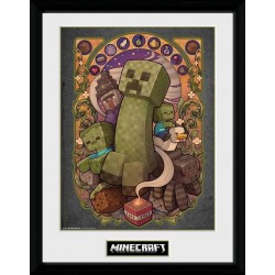 MINECRAFT - Collector Print 30X40 - Creeper 155974  Collector Print Canvas