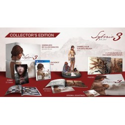 Syberia 3 Collector figurine + comic book + art book + poster + 2 Lit 155569  Playstation 4
