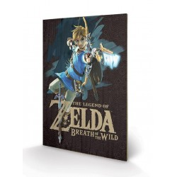 ZELDA BREATH OF THE WILD - Printing on Wood 40X59 - Game Cover 155487  Houten Canvas