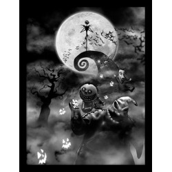 NIGHTMARE BEFORE CHRISTMAS - Collector Print HQ 32X42 - Oogie Boogie 155444  Collector Print Canvas