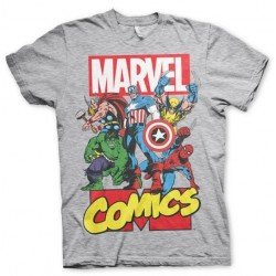 MARVEL - T-Shirt Comics Heroe - Grey (M)