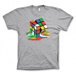RUBIK'S - T-Shirt Melting Ribik's - MEDIUM GREY (M) 155280  T-Shirts Rubik's
