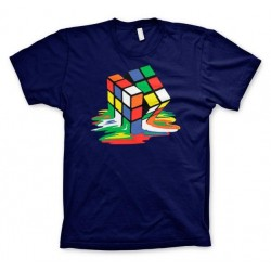 RUBIK'S - T-Shirt Melting Ribik's - NAVY (10Y) 155275  T-Shirts Kinderen