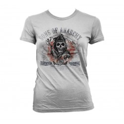 SONS OF ANARCHY - T-Shirt Distressed Flag - GIRL (L) 155265  T-Shirts Vrouwen