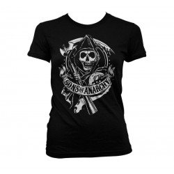 SONS OF ANARCHY - T-Shirt Scroll Reaper - GIRL (M) 155260  T-Shirts