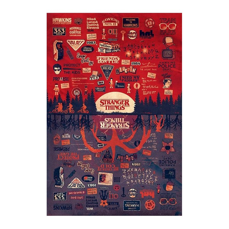 STRANGER THINGS - Poster 61x91 - The Upside Down 170136  Posters