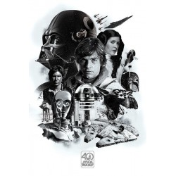 STAR WARS - Poster 61X91 - 40th Anniversary Montage 170135  Posters