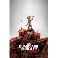 GUARDIENS OF THE GALAXY 2 - Poster 61X91 - Groot Dynamite 170131  Posters