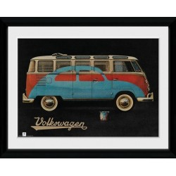 VW - Collector Print 30X40 - VW Camper Paint Advert 154808  Collector Print Canvas