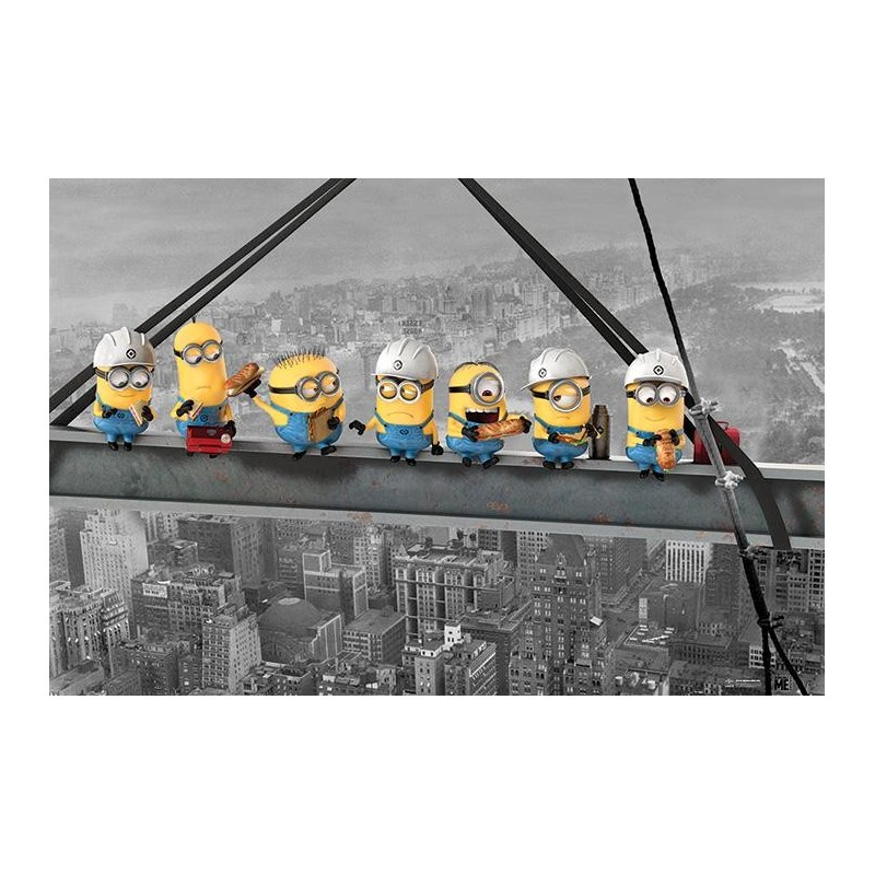DESPICABLE ME - Poster 61X91 - Minions Lunch on a Skycraper 170120  Posters