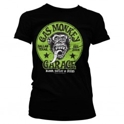 GAS MONKEY - T-Shirt Green Logo GIRL (S) 154688  T-Shirts