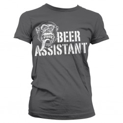 GAS MONKEY - T-Shirt Beer Assistant GIRL - grijs (XXL)