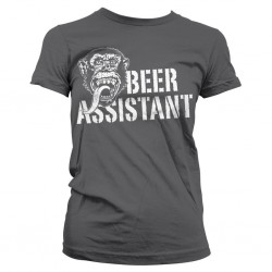 GAS MONKEY - T-Shirt Beer Assistant GIRL - grijs (L)