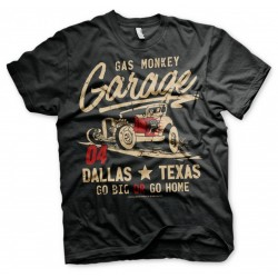 GAS MONKEY - T-Shirt Go Big or Go Home - Black (S) 154663  T-Shirts