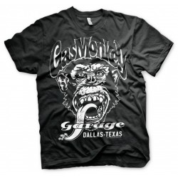 GAS MONKEY - T-Shirt Garage Dallas Texas - Black (S) 154653  T-Shirts Gas Monkey