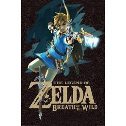 ZELDA - Poster 61X91 - Breath of the Wild 'Game Cover' 154576  Posters