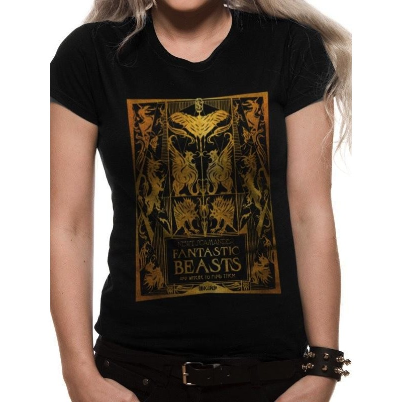 FANTASTIC BEASTS 2 - T-Shirt IN A TUBE - Foil Book Cover - GIRL (M) 170084  T-Shirts
