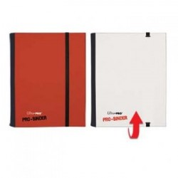 ULTRA PRO - Pro-Binder - 4 Pocket Portfolio - 80 Cards - Red/White 154109  Ultra Pro Pockets