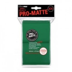 ULTRA PRO - Standard Deck Protector PRO-Matte Green '100 Sleeves' 154091  Ultra Pro Pockets