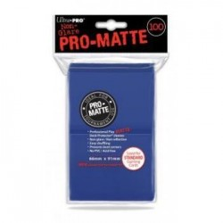 ULTRA PRO - Standard Deck Protector PRO-Matte Blue '100 Sleeves' 154089  Trading Cards