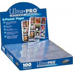 ULTRA PRO - 9-Card Pages Silver '11 Hole' - Display 100 Pces 153973  Ultra Pro Pockets