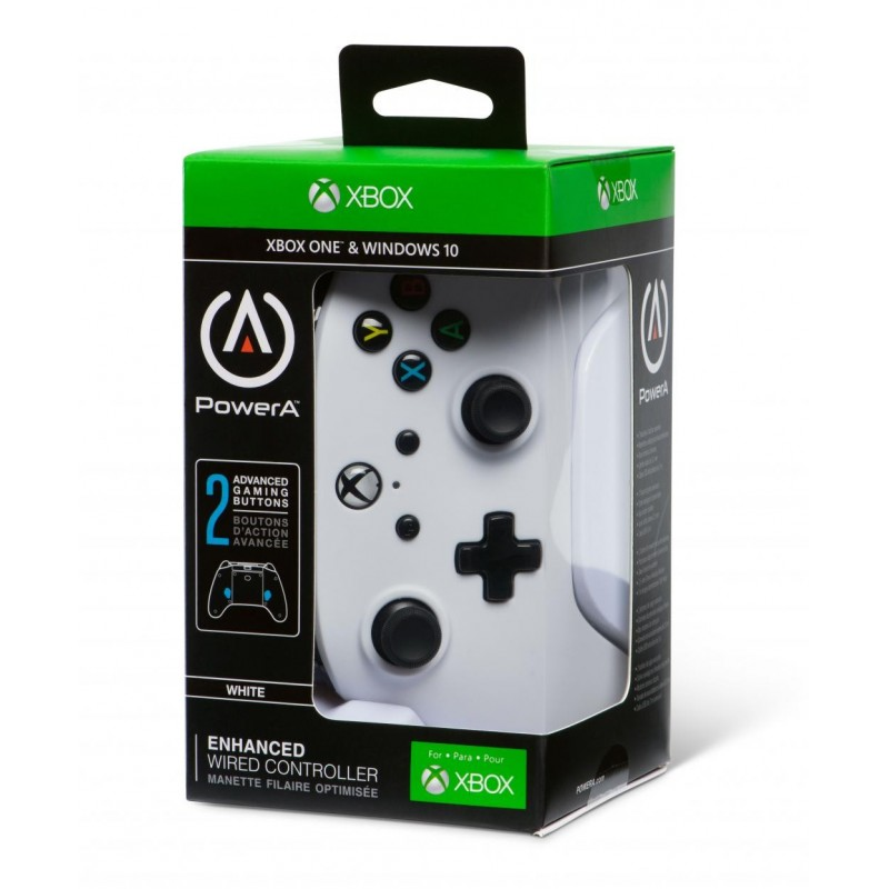 POWER A - Wired Controller White - Xbox One  171603  XboxOne Controllers