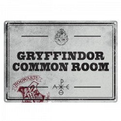 HARRY POTTER - Metal Poster 21 X 15 - Gryffindor Common Room