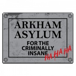 BATMAN - Plaque Metal 21 X 15 - Arkham Asylum 153716  Metalen Wand Borden