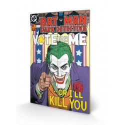 DC COMICS - Printing on wood 40X59 - The Joker Vote for Me 153683  Houten Canvas
