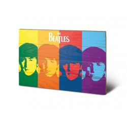 THE BEATLES - Printing on wood 40X59 - Pop Art 153681  Houten Canvas