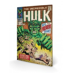 MARVEL - Printing on wood 40X59 - Hulk Big Issue 153677  Houten Canvas