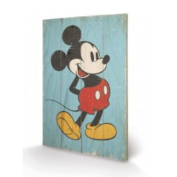 DISNEY - Printing on wood 40X59 - Mickey Mouse Retro 153671  Houten Canvas