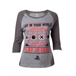 PLAYSTATION - T-Shirt Live in your World Girl (M) 153520  T-Shirts Vrouwen