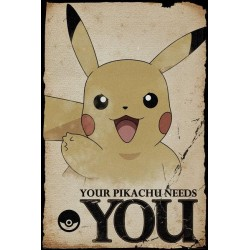 POKEMON - Poster 61X91 - Pikachu Needs You 152630  Posters