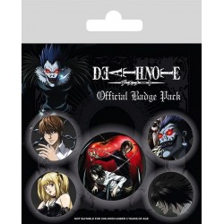 DEATH NOTE - Pack 5 Badges - Characters 169959  Badges