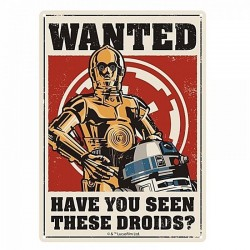 STAR WARS - Tin Sign 21 X 15 - Droids 152457  Metalen Wand Borden
