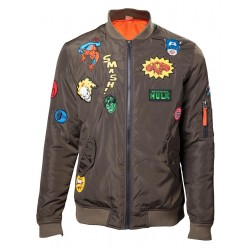 MARVEL - Bomber Jacket With Hero Patches (XXL)