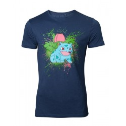 POKEMON - T-Shirt Navy Herbizarre (S) 152347  T-Shirts Pokemon