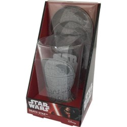 STAR WARS - Glass and Coasters Set - Death Star