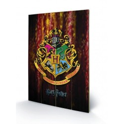 HARRY POTTER - Printing on wood 40X59 - Hogwarts Crest 152087  Houten Canvas
