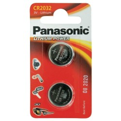 PANASONIC - Piles Lithium Coin - CR2032 X 2 151956  Batterijen