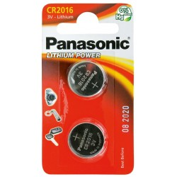 PANASONIC - Piles Lithium Coin - CR2016 X 2 151949  Batterijen