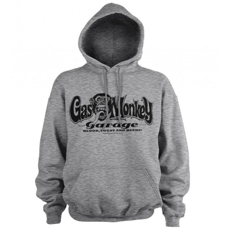 GAS MONKEY - Sweat Hoodie - Logo - Grey (S) 169909  Hoodies