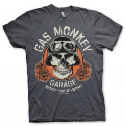GAS MONKEY - T-Shirt Skull - Dark Grey (S) 169904  T-Shirts Gas Monkey