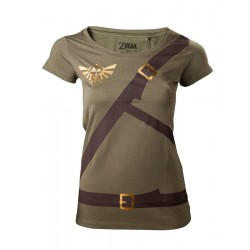 ZELDA - T-Shirt Women Link's shirt with printed straps (S)