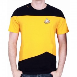 STAR TREK - T-Shirt NEXT GENERATION Yellow Uniform (S) 151783  T-Shirts Star Trek