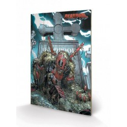 DEADPOOL - Impression sur Bois 40X59 - Grave 151653  Canvas